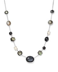 Ippolita Sterling Silver Rock Candy Mixed Stone Necklace In Black Tie 16 Black Silver