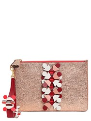 Anya Hindmarch Glitter On Leather Large Pouch
