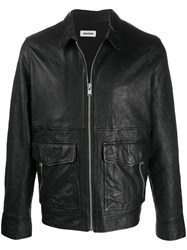 Zadig And Voltaire Leather Crinkle Jacket 60