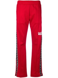 Msgm Diadora Track Pants Red