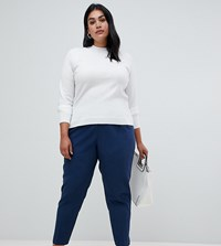 Asos Design Curve High Waist Tapered Trousers Grey