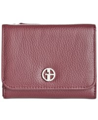 Giani Bernini Softy Leather Mini Trifold Wallet Only At Macy's Oxblood