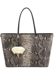 Christian Siriano Snakeskin Tote Nude Neutrals