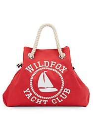 Wildfox Couture Reversible Canvas Beach Bag Casino Coral