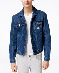 Calvin Klein Jeans Men's Medium Wash Denim Trucker Jacket