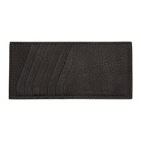Rick Owens Black Vertical Credit Card Holder