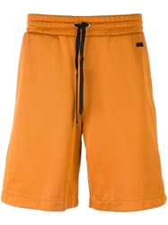 Ami Alexandre Mattiussi Contrast Band Track Shorts Yellow Orange
