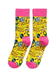 Happy Socks X Steve Aoki Slogan Multi Colour