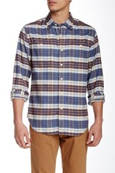Grayers Country Flannel Plaid Long Sleeve Regular Fit Shirt Brown