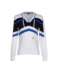 Dirk Bikkembergs Sport Couture Knitwear Jumpers Men White