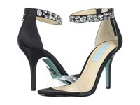 Blue By Betsey Johnson Drew Black Satin High Heels