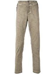 Transit Straight Trousers Brown