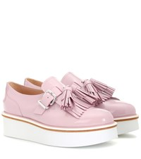 Tod's Leather Platform Loafers Pink