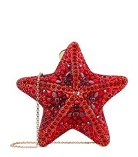Judith Leiber Coral Starfish Clutch Female Red