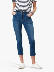 Joules Monroe Cropped Skinny Jeans Mid Blue