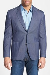 Kroon Classic Fit Woven Cotton Sport Coat Blue