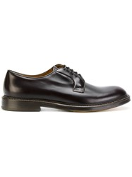 Doucal's Classic Derby Shoes Leather Rubber Brown