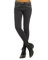 Scotch And Soda Embroidered Skinny Jeans In Phantom