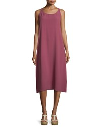 Eileen Fisher Scoop Neck Silk Tank Dress Women's