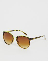 Jeepers Peepers Classic Square Frame Sunglasses In Tort Brown