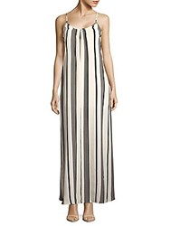 Lucca Couture Striped Open Back Dress Off White
