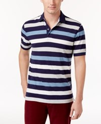 Tommy Hilfiger Men's Classic Fit Striped Polo Peacoat Multi