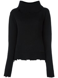 Rta Cowl Neck Jumper Black