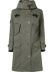 Figue Military Style Field Jacket Green