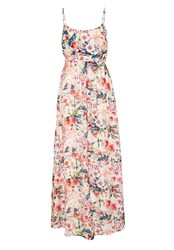 Hallhuber Maxi Dress Made Of Silk Multi Coloured