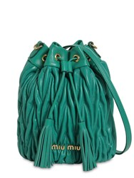 Miu Miu Small Matelasse Leather Bucket Bag Assenzio
