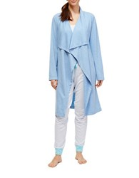 Nautica Draped French Terry Robe Blue Ice Heather