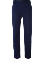 Golden Goose Deluxe Brand Straight Leg Trousers Blue
