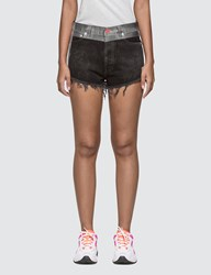 Heron Preston Tape Wash Denim Shorts Black