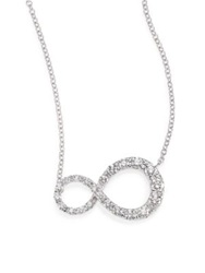 Kwiat Elements Diamond And 18K White Gold Infinity Pendant Necklace White Diamond