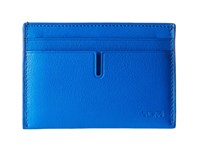 Tumi Nassau Slim Card Case Electric Blue Textured Credit Card Wallet
