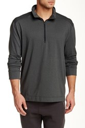 Victorinox Half Zip Charcoal Heather Sweater Gray