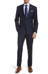 Ted Baker London Jay Trim Fit Houndstooth Wool Suit Navy