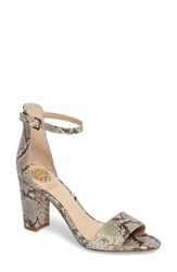Vince Camuto Women's Corlina Ankle Strap Sandal French Taupe Suede