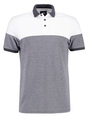 Burton Menswear London Polo Shirt Whit Grey