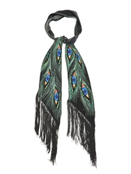 Rockins Peacock Eyes Print Classic Skinny Scarf