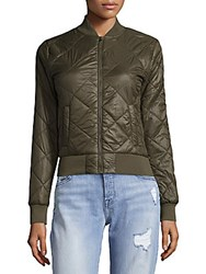 Saks Fifth Avenue Woven Quilted Packable Jacket Olive
