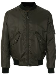 Sealup Zipped Bomber Jacket Green