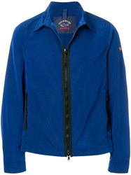 Paul And Shark Zipped Fitted Jacket Blue