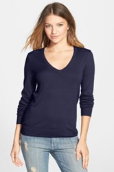 Bp V Neck Sweater Juniors Blue