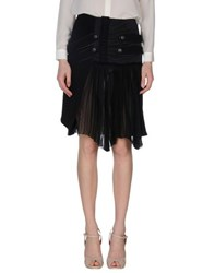 Daniele Alessandrini Skirts Knee Length Skirts Women Black