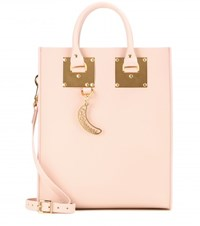 Sophie Hulme Mini Albion Leather Tote Pink