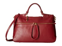 Hobo City Light Tote Wine Satchel Handbags Burgundy