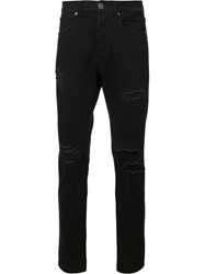 321 Ripped Detail Jeans Black