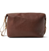 Tarnsjo Garveri Icon Two Tone Leather Wash Bag Brown
