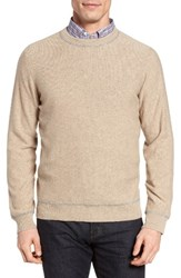 Luciano Barbera Men's Cashmere Sweater Oatmeal